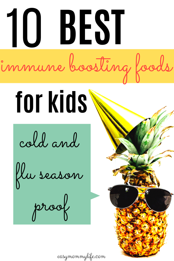 immune boosting foods for kids-healthy toddler foods- image of a pineapple