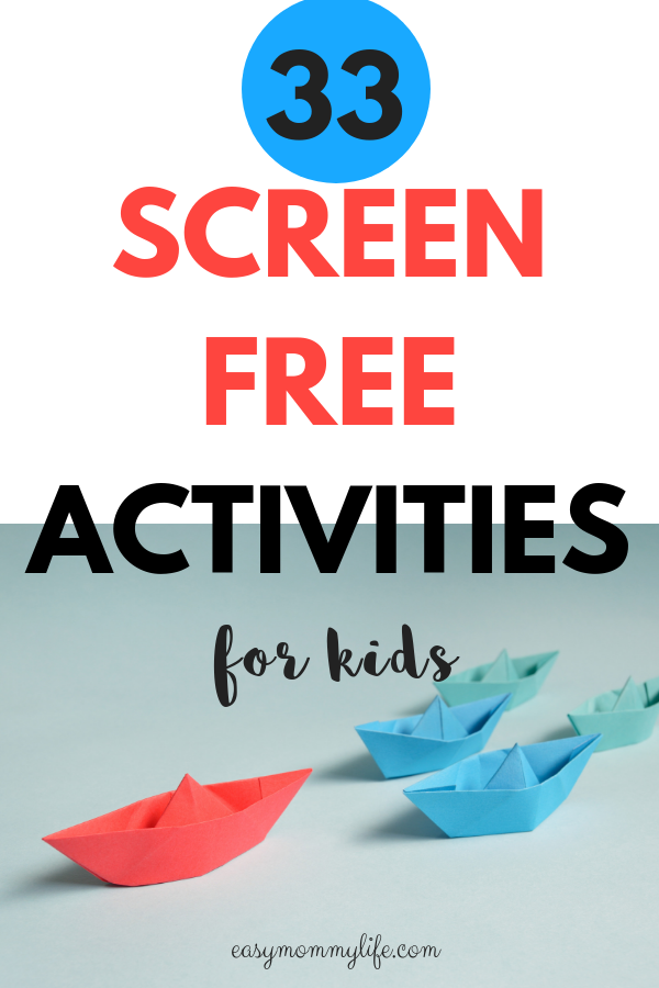 screen free activities for toddlers