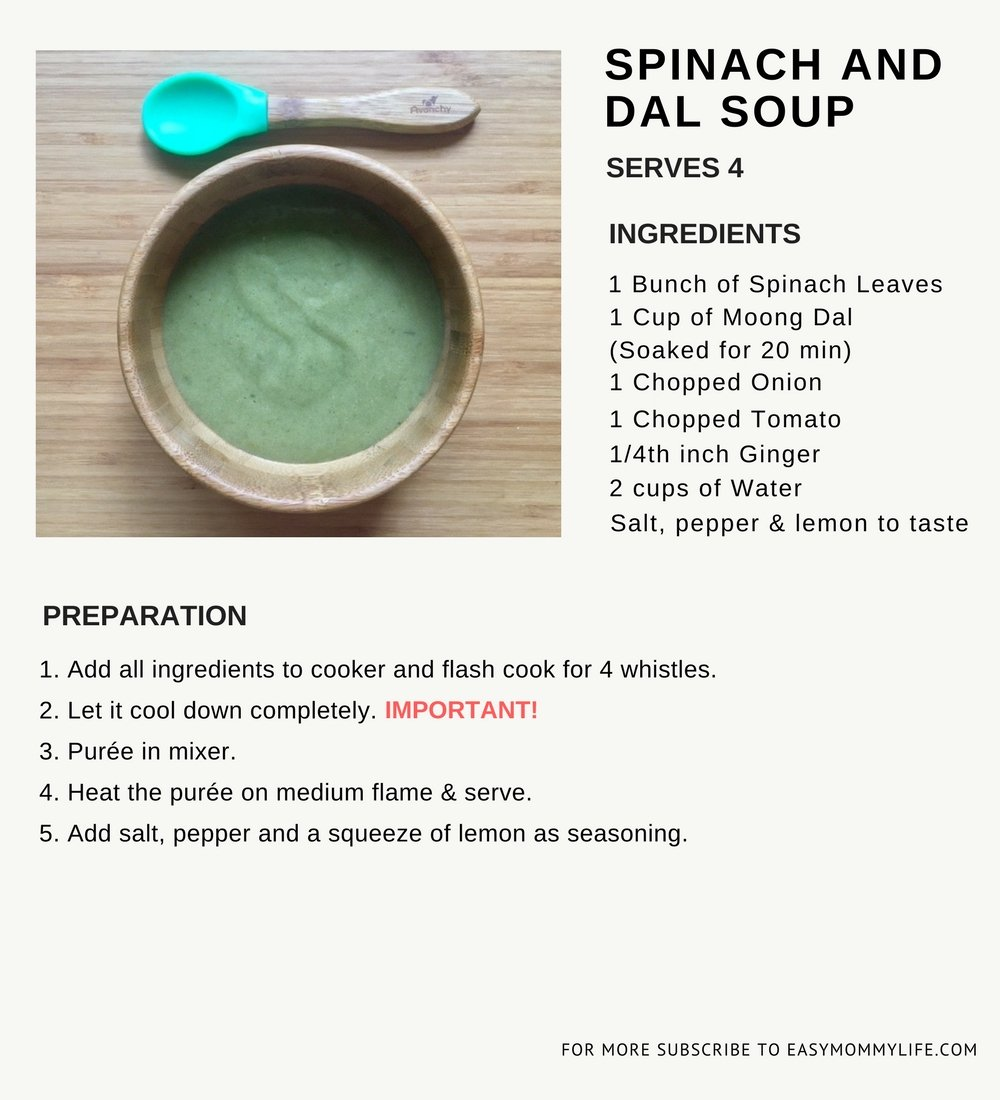 Spinach and Dal Soup