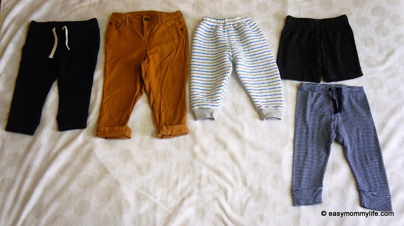 Toddler Pants part of capsule wardrobe for toddlers