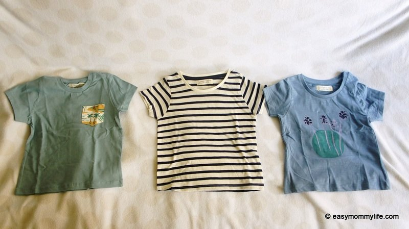 Organic cotton tees part of toddler capsule wardrobe