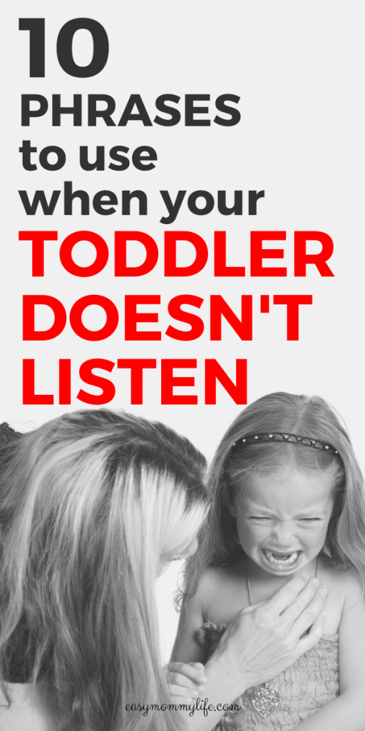 Calming Phrases to get toddler to listen