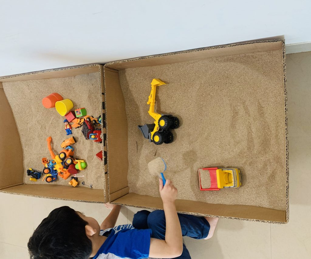 DIY sand pit