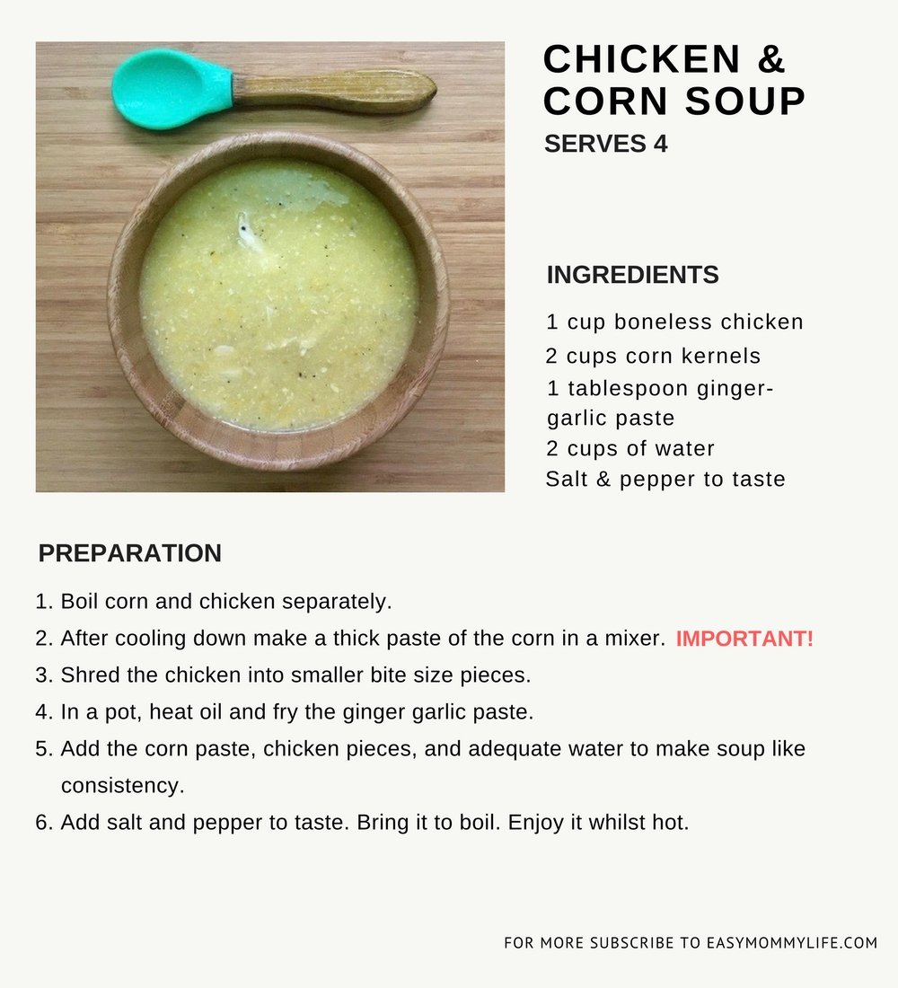 Easy Healthy Soup Recipes-Chicken and Corn Soup