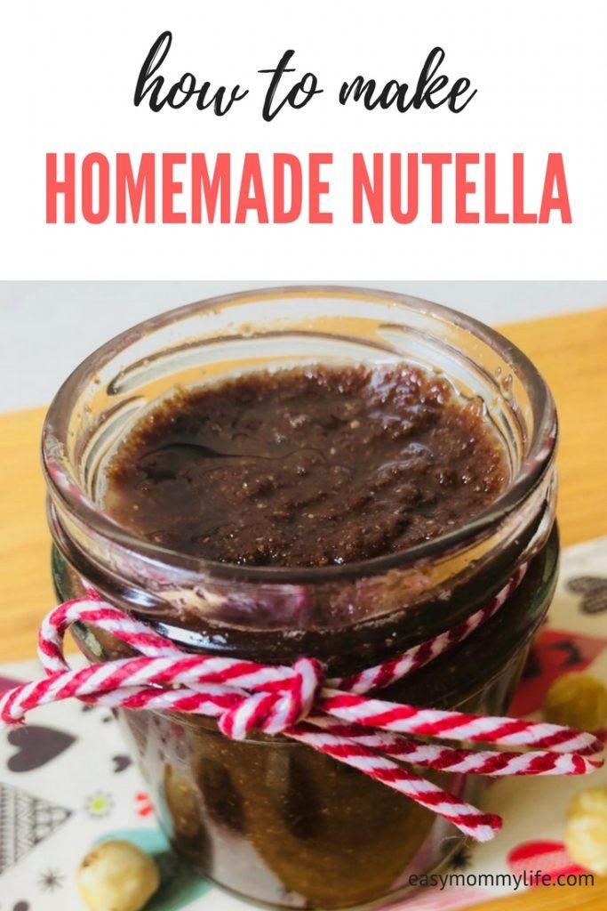 easy homemade Nutella recipe-vegan Nutella