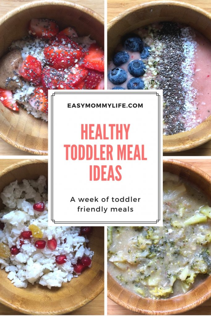 Healthy toddler meal ideas-what my toddler eats in a week