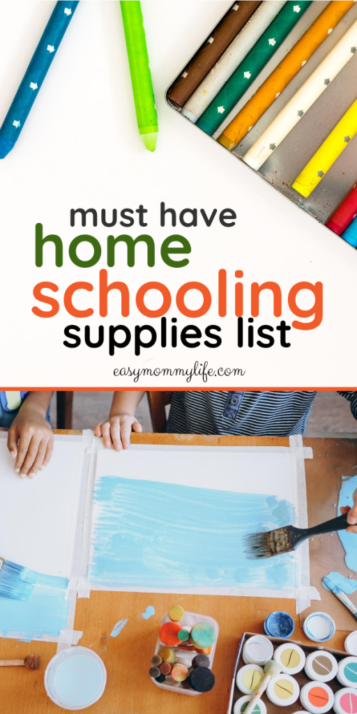 homeschool supplies list