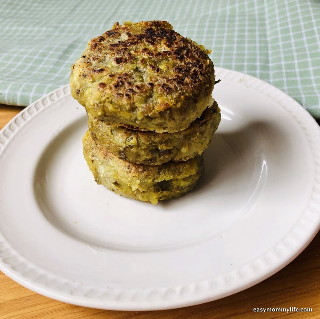 Lentil patties-Lentil recipes for toddlers-baby led weaning recipes