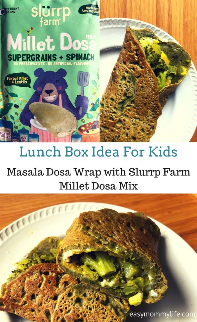 Masala Dosa wrap-Lunch box idea for kids