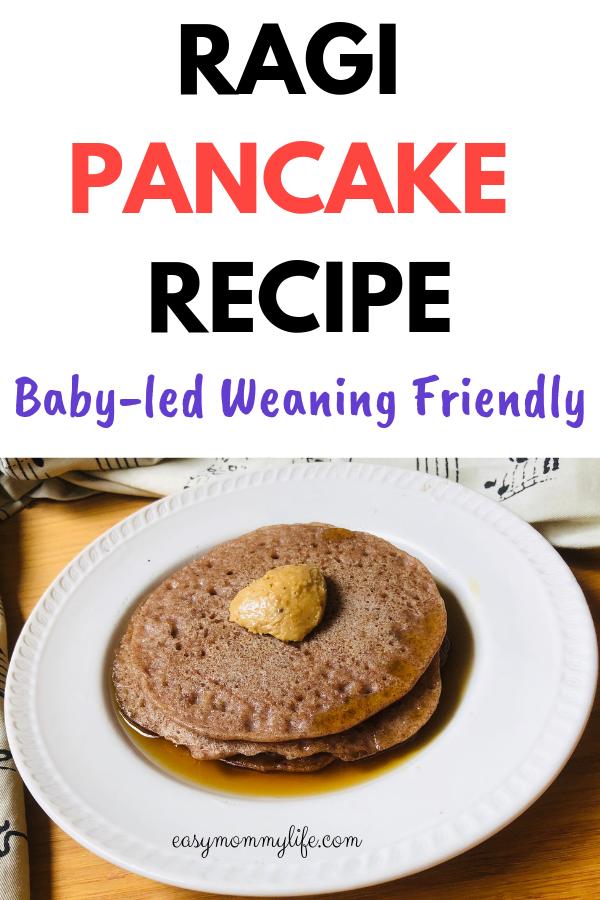 Ragi Pancake - baby led weaning finger foods