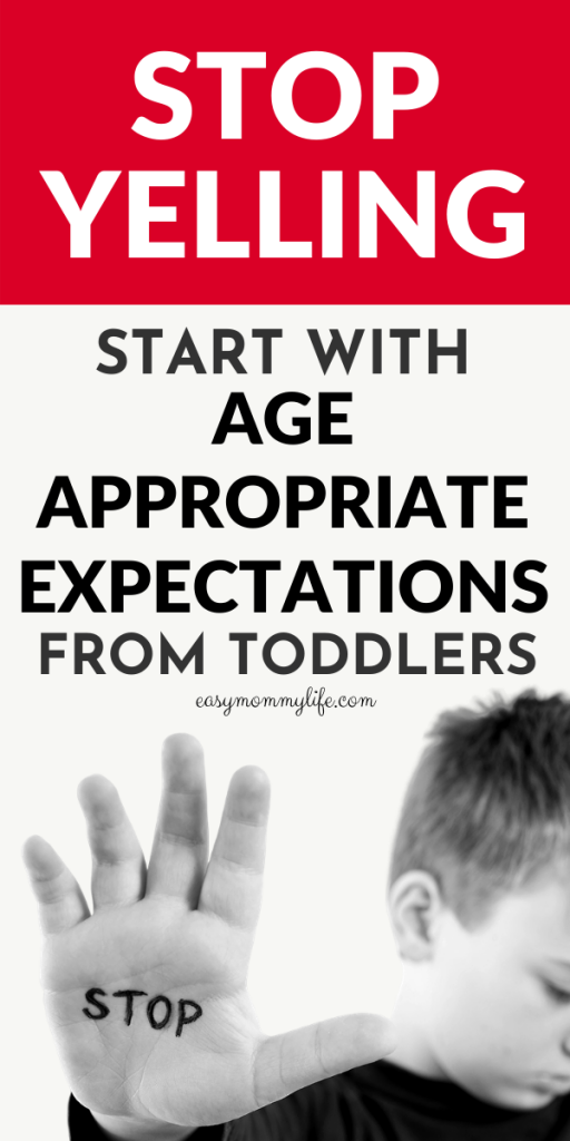 age appropriate expectations from toddlers