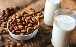 almond milk-vegan calcium rich foods