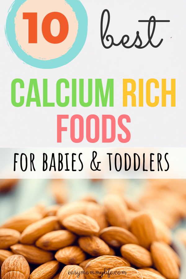 calcium rich foods for toddlers- almonds