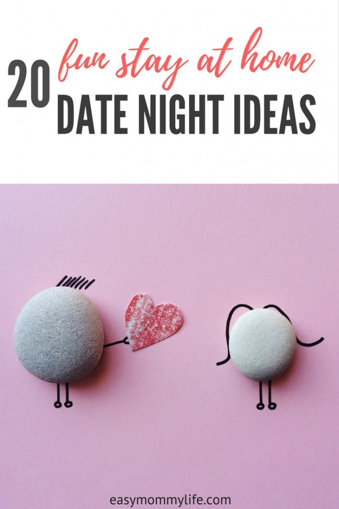 20 fun stay at home date night