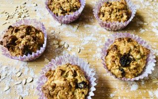 healthy oat muffins for kids