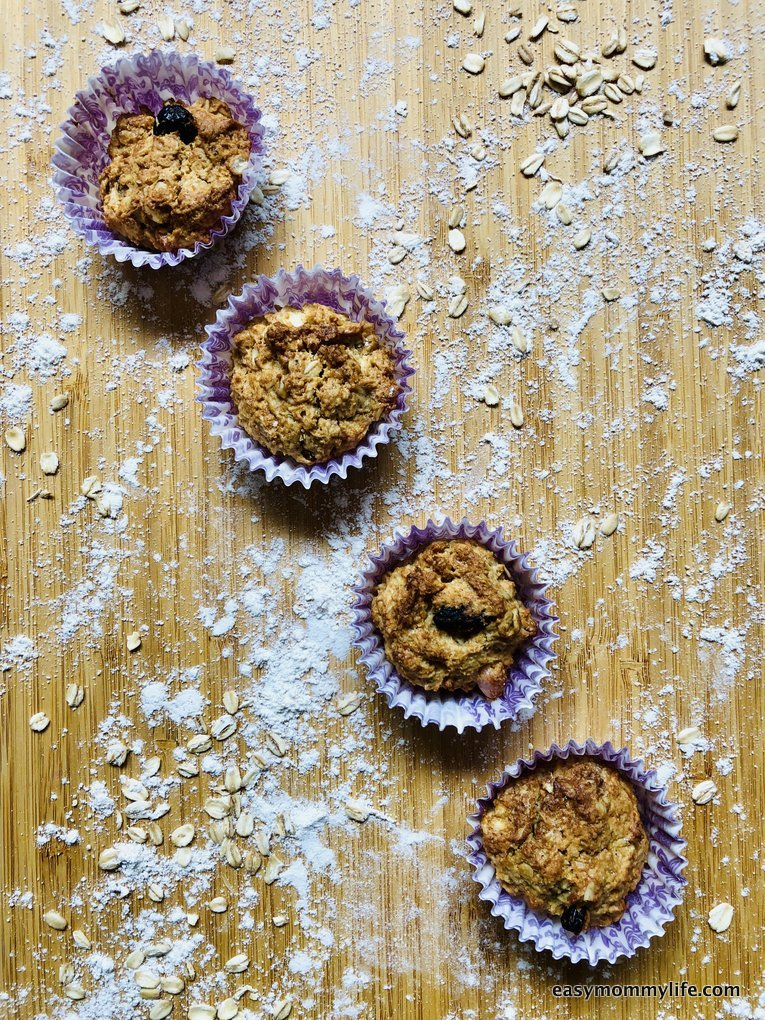 lunchbox snack idea-oat and nut muffins