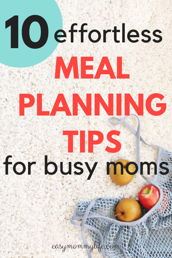 meal planning tips- meal planning template