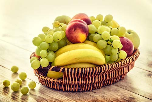 Basket filled with fruits