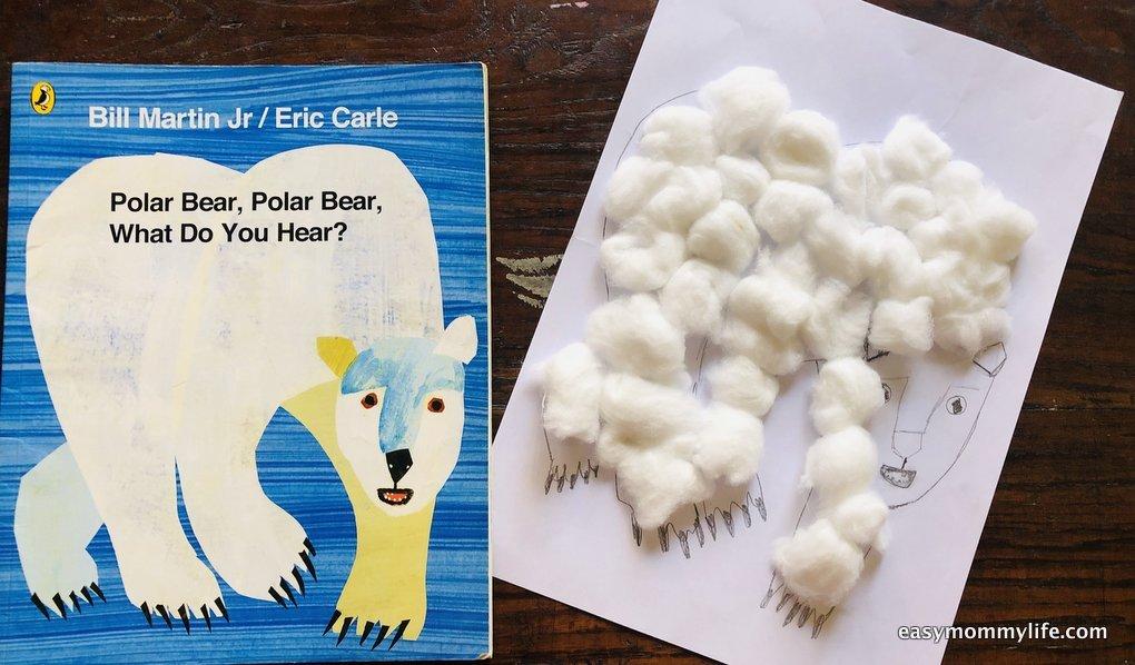 polar bear polar bear book based activity for toddlers