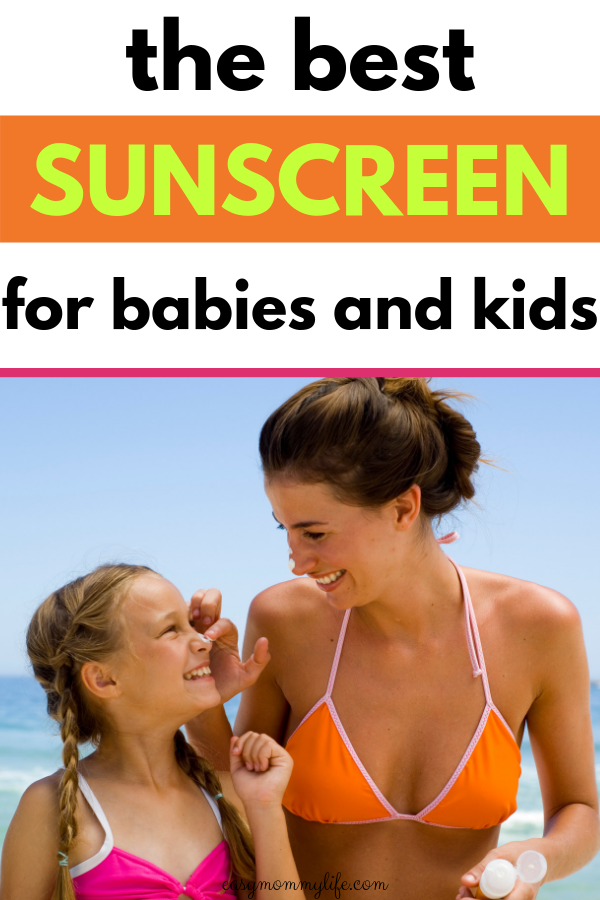 mom and daughter at the beach - safest sunscreen for babies