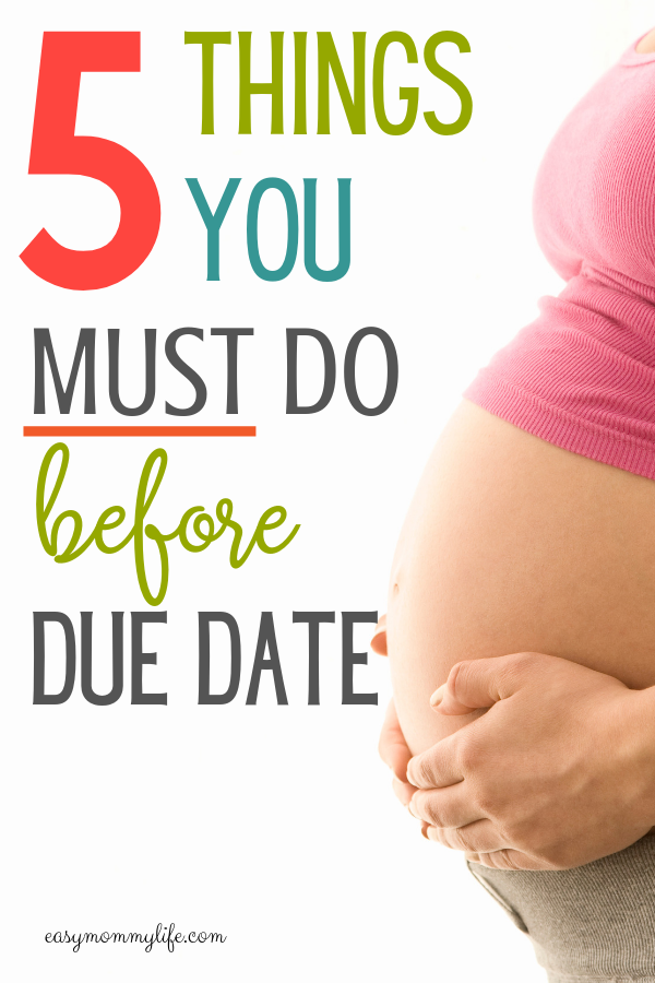 things to do before baby