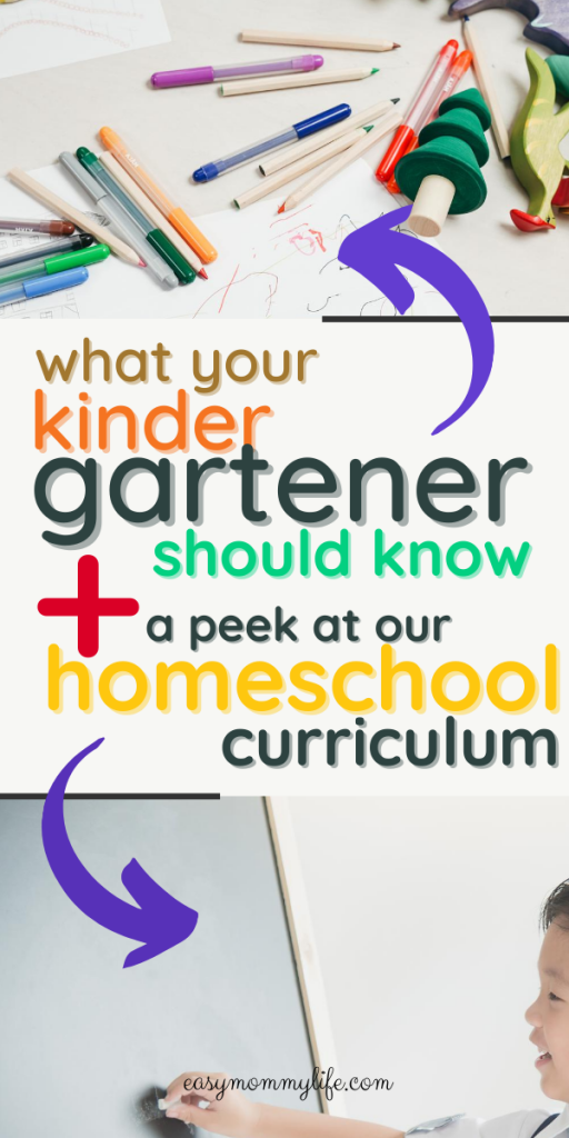 what your kindergartener should know
